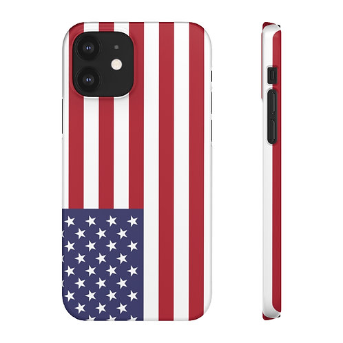 USA Flag - iPhone Snap Cases