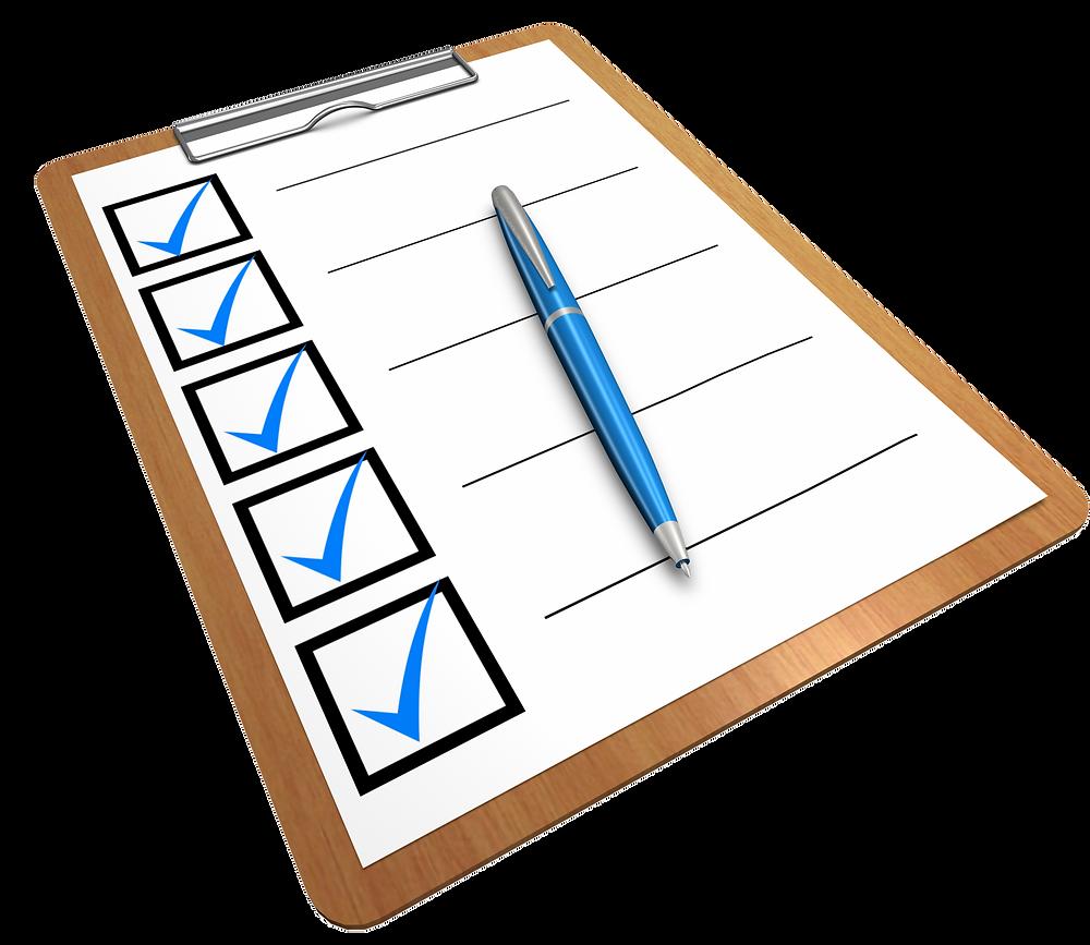 Checkliste für Wohnungsbesichtigungen.