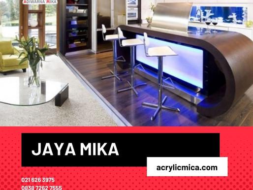 Akrilik Adiwarna Mika dapat digunakan untuk interior rumah tinggal modern