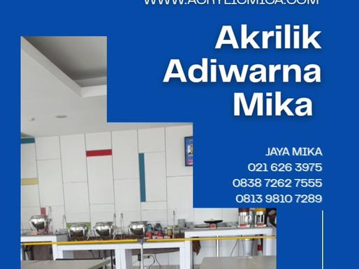 Akrilik Adiwarna Mika dapat digunakan untuk membuat partisi pelindung makanan & minuman di kantin