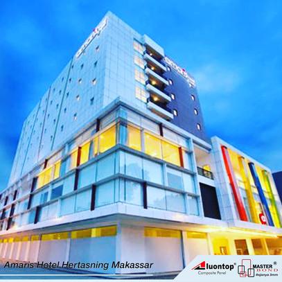 ACP Aluontop Digunakan Untuk Amaris Hotel Hertasning Makassar