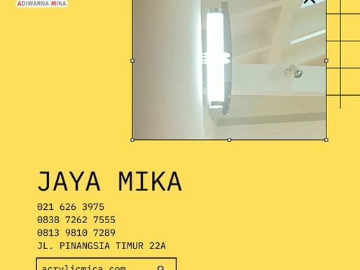 Salah satu contoh desain lampu yang bisa dibuat dengan menggunakan Akrilik Adiwarna Mika warna putih