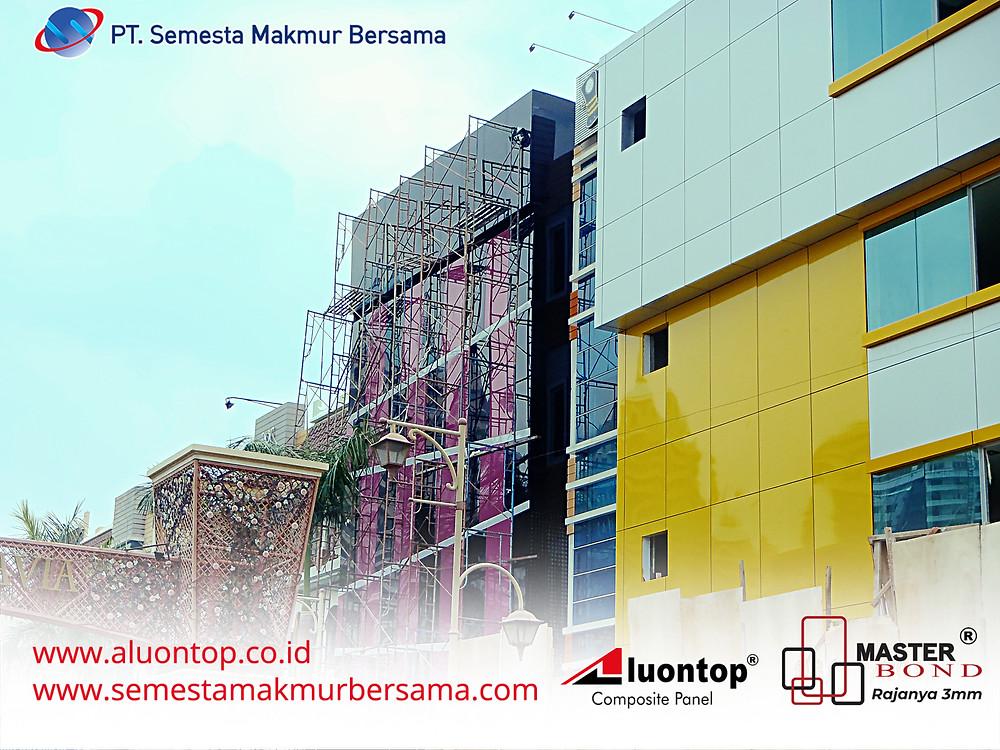 ACP Aluontop Digunakan Untuk Exterior Project Ruko Kelapa Gading Jakarta