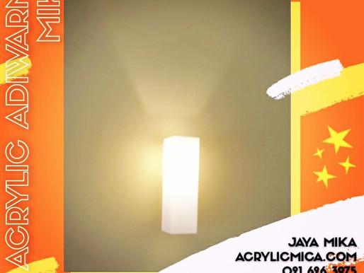 Akrilik Adiwarna Mika warna putih susu dapat digunakan untuk membuat tutup lampu berbentuk box