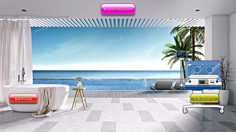 Acrylic Adiwarna Mika dapat dipergunakan untuk membuat Bathtub dan Incubator (Inkubator)