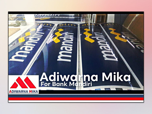 Acrylic Adiwarna Mika For Bank Mandiri