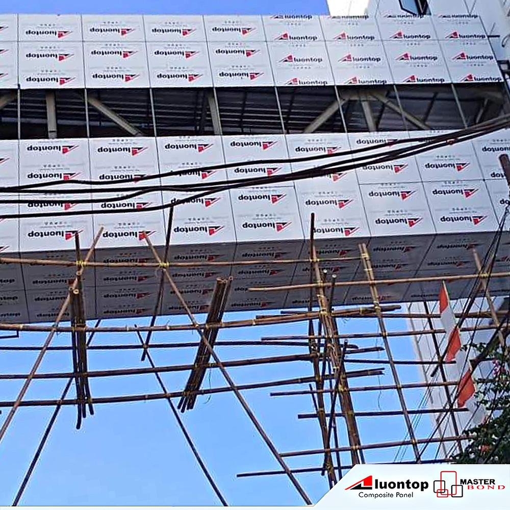 ACP Aluontop Dapat Dipergunakan Untuk Menutup Bagian Bangunan Yang Terbuat Dari Besi