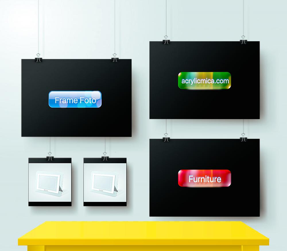 Acrylic Adiwarna Mika dapat Dipergunakan Untuk Membuat Photo Frame (Bingkai Foto) & Furniture