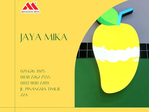 Akrilik Adiwarna Mika dapat digunakan untuk promosi dan marketing produk kamu yang Instagramable.