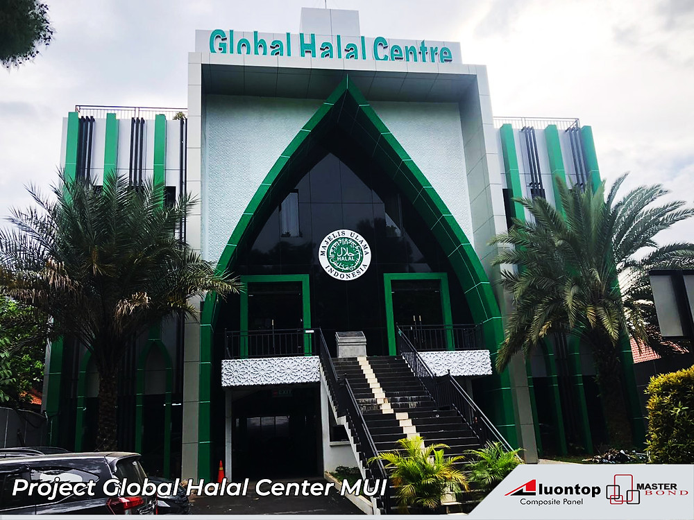 Global Halal Center Menggunakan ACP Aluontop