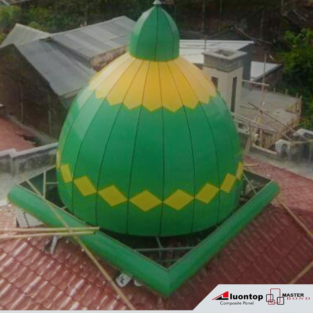 ACP Aluontop Untuk Exterior Kubah Masjid