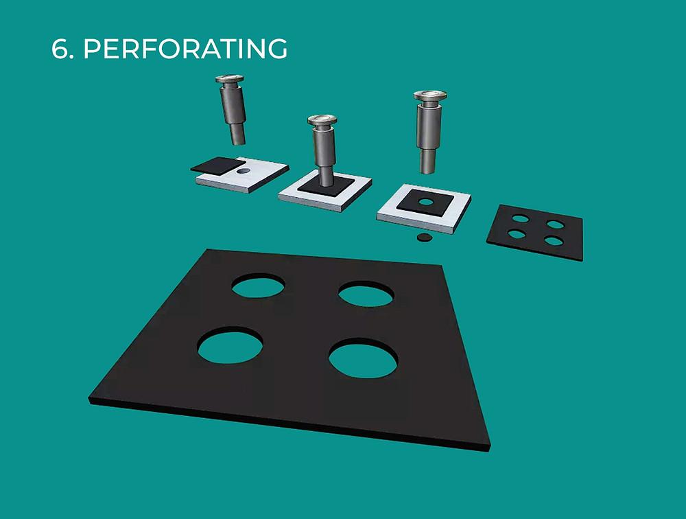 Cara Ke-6 Teknik Fabrikasi Untuk ACP Aluontop & ACP Masterbond Yaitu Perforating