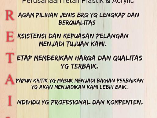 JAYA ALAM PERSADA adalah Perusahaan RETAIL Plastik & Acrylic terbaik & terlengkap di Indonesia