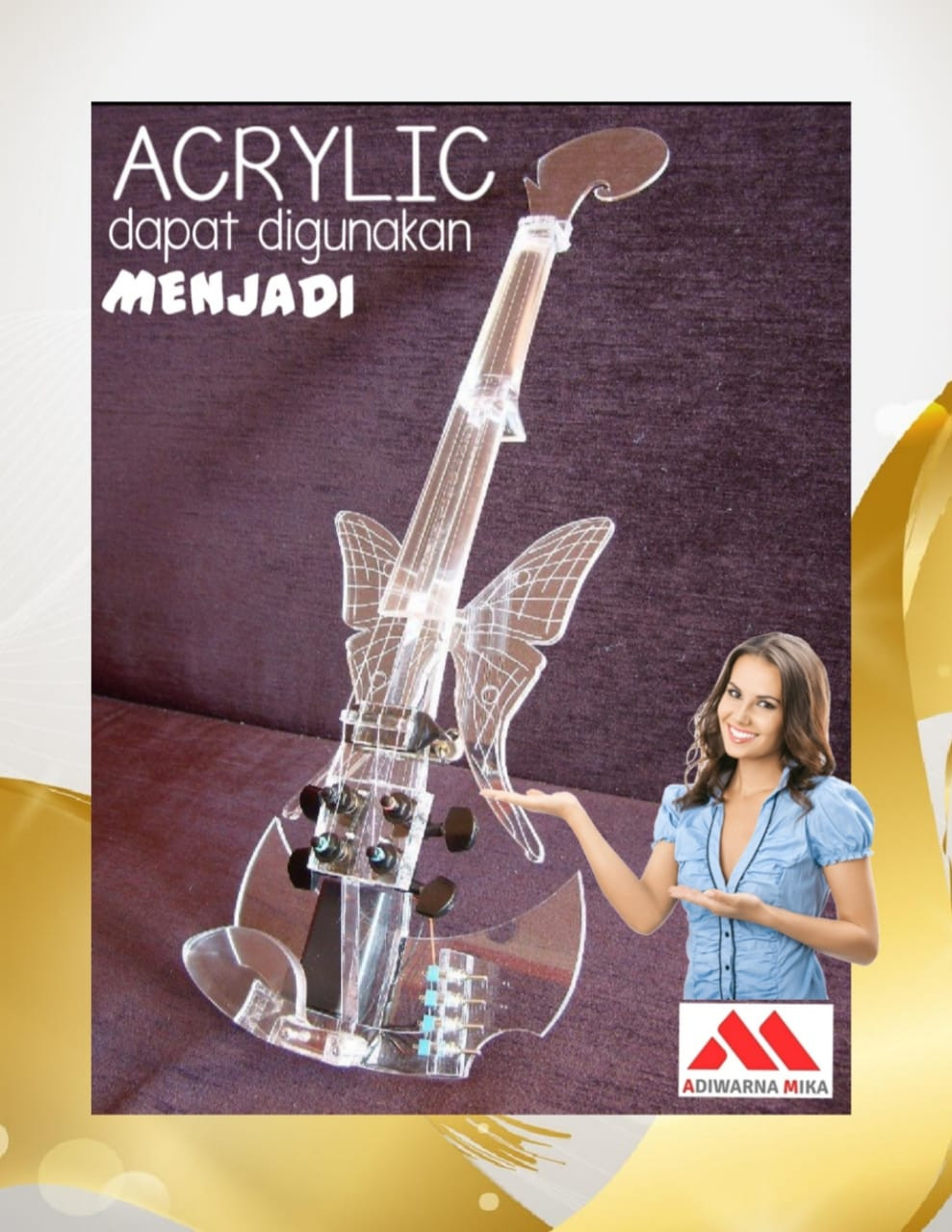 Acrylic Adiwarna Mika Can Be A Beautiful And Artistic Object