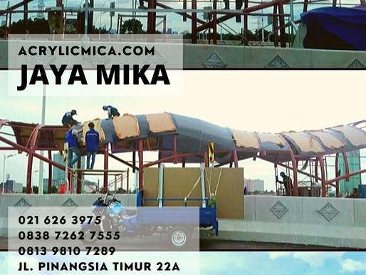 Akrilik Adiwarna Mika warna hitam digunakan untuk pembangunan JPO di Indonesia