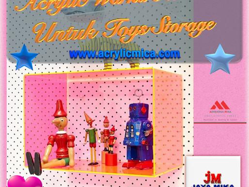 Acrylic Warna Fluorescent Untuk Toys Storage