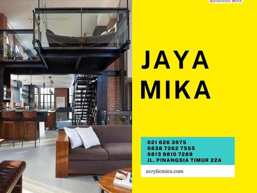 Akrilik Adiwarna Mika dapat digunakan sebagai pengganti kaca pada interior desain ruangan