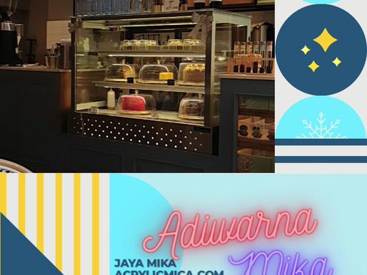 Akrilik Adiwarna Mika dapat digunakan untuk membuat penutup makanan & minuman dan display makanan
