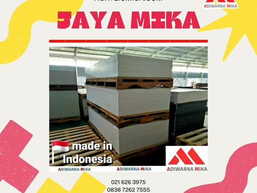 Akrilik Adiwarna Mika adalah akrilik yang diproduksi dengan menggunakan teknologi dan mesin terbaru
