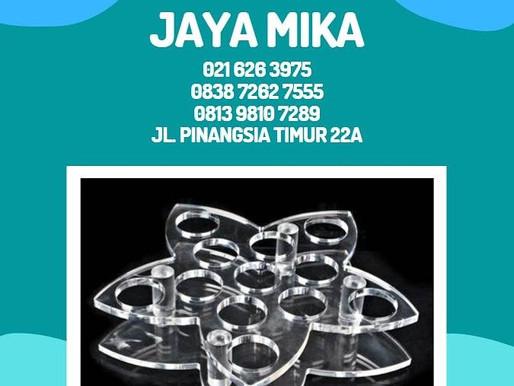 Acrylic Clear Adiwarna Mika Model Bunga yang Indah untuk Standing Glass