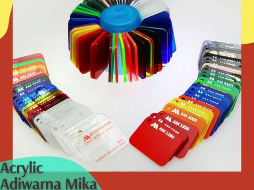 Pelanggan Akrilik Adiwarna Mika dapat memesan warna khusus untuk produk & perusahaan Anda