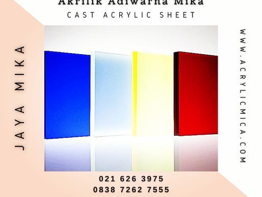 Akrilik Adiwarna Mika mempunyai pilihan permukaan akrilik yang bervariasi yaitu glossy atau matte
