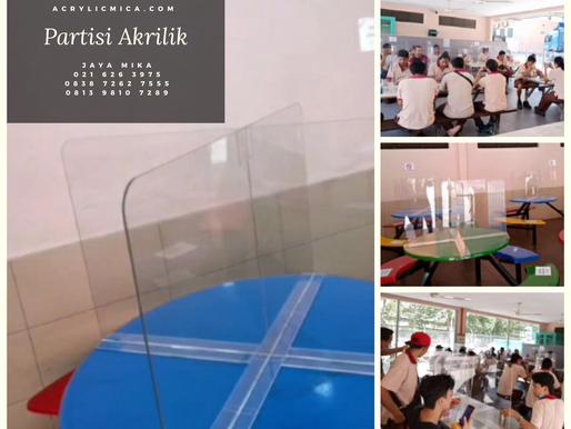 Partisi Akrilik Adiwarna Mika untuk kafe, kantin, restoran dan tempat makan minum di Indonesia