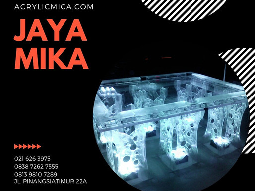 Acrylic Adiwarna Mika dapat digunakan untuk membuat meja atau furniture yang ramah lingkungan, indah