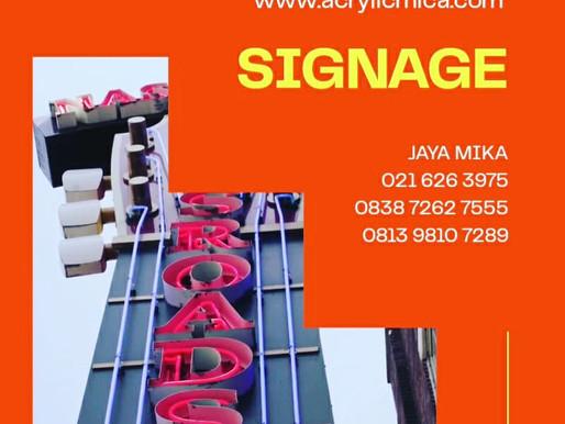 Akrilik Adiwarna Mika sudah banyak digunakan untuk membuat Signage di Indonesia