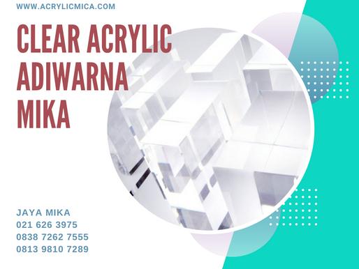 Clear Acrylic Adiwarna Mika paling banyak digunakan pada saat pandemi COVID-19