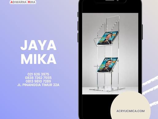 Acrylic Clear Adiwarna Mika untuk dibuat menjadi rak majalah yang indah dan modern