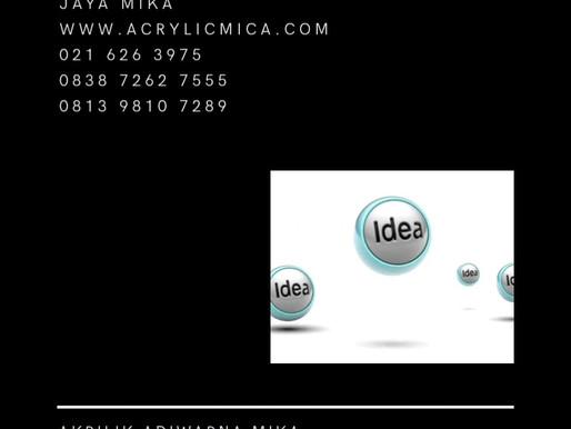 Akrilik Adiwarna Mika merupakan produk berkualitas dengan harga murah untuk mewujudkan ide Anda