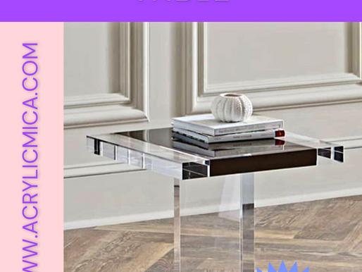 Acrylic Clear Adiwarna Mika dapat digunakan untuk membuat coffee table (meja kopi)