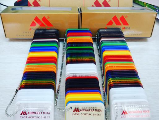The Colors of Acrylic Sheet Adiwarna Mika