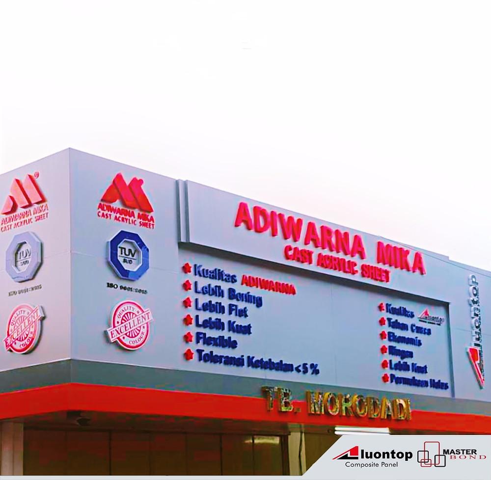 ACP Aluontop dan Acrylic Adiwarna Mika Merupakan Bahan Bangunan Modern