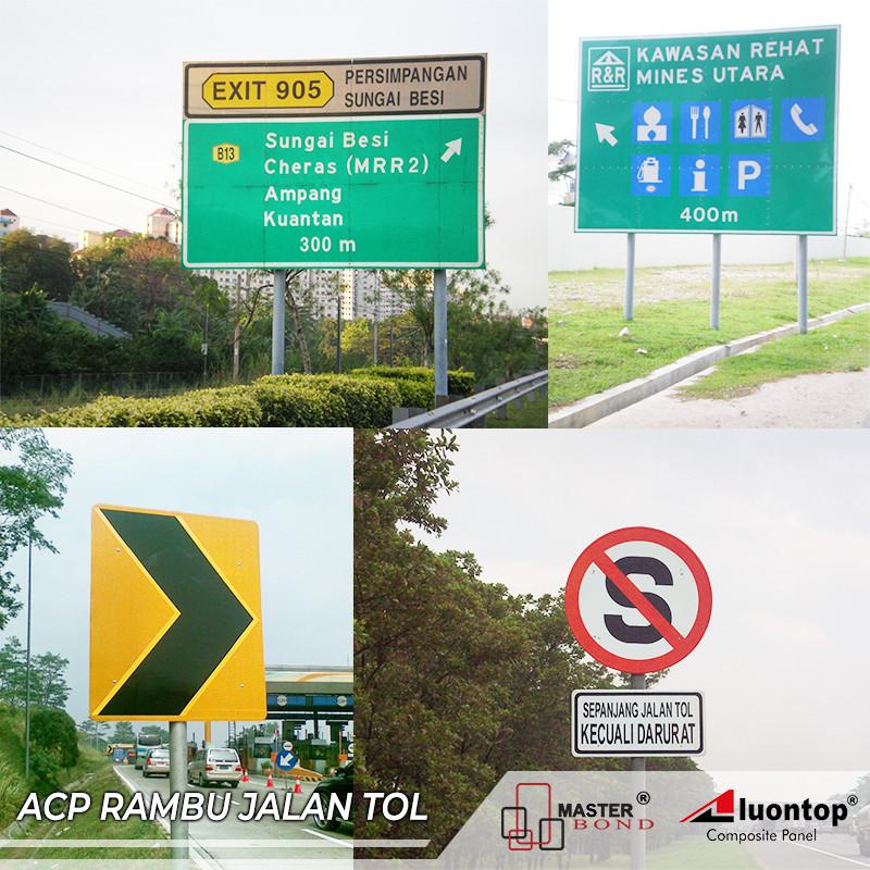 ACP Aluontop Untuk Rambu Lalu Lintas