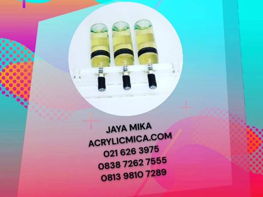 Akrilik 20 mm bening Adiwarna Mika untuk rak botol