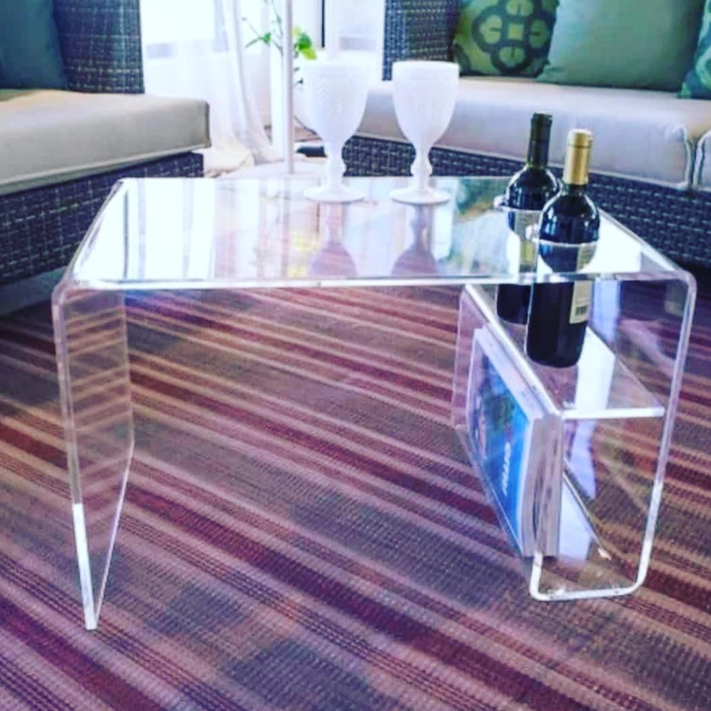 Table From Clear Acrylic
