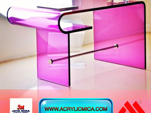 Acrylic Pink Table