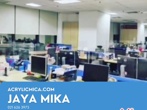 Acrylic Adiwarna Mika for partition in office, hotel, mall & school