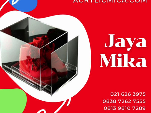 Acrylic Clear Adiwarna Mika untuk membuat tempat sepatu atau produk lainnya