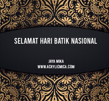 PT. Jaya Alam Persada (Jaya Mika) Mengucapkan Selamat Hari Batik Nasional 2 Oktober 2020