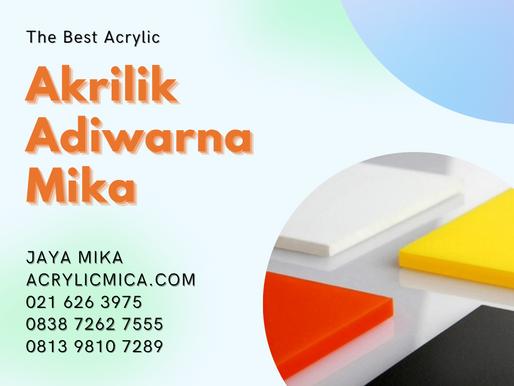 Beragam aplikasi Akrilik Adiwarna Mika untuk penggunaan fungsional & estetika yg mudah & sederhana