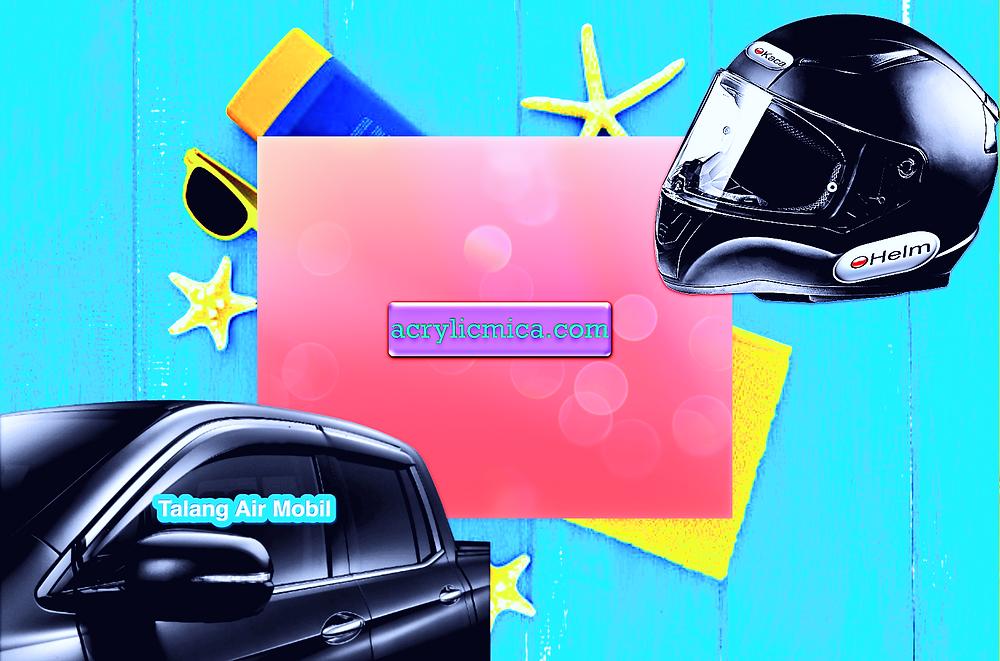 Acrylic Adiwarna Mika Dapat Dipergunakan Untuk Membuat Kaca Helm & Talang Air Mobil