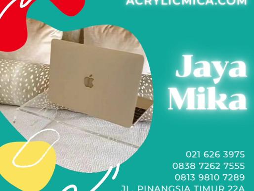 Akrilik dapat digunakan untuk membuat meja notebook atau laptop akrilik