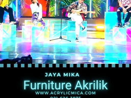 Akrilik dapat digunakan untuk membuat furniture akrilik yang simpel & modern