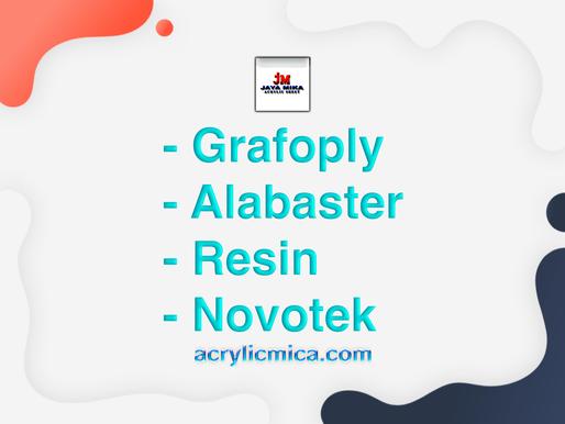 PT. Jaya Alam Persada (Jaya Mika) Menjual Grafoply, Alabaster, Resin & Novotek