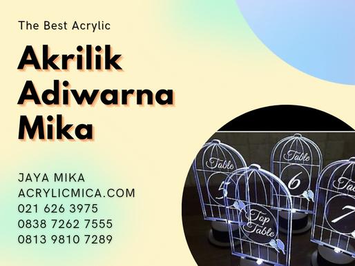 Acrylic Clear Adiwarna Mika kombinasi gravir & lampu led untuk nomor meja (table number) restoran