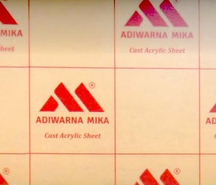 KARAKTERISTIK ADIWARNA MIKA CLEAR ACRYLIC SHEET