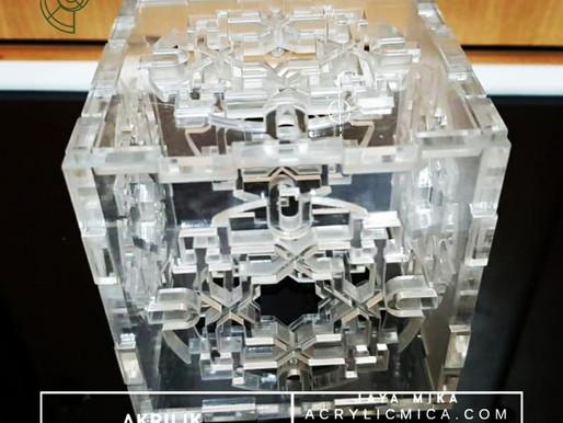 Clear Acrylic Adiwarna Mika dapat digunakan untuk membuat puzzle box dengan cutting laser